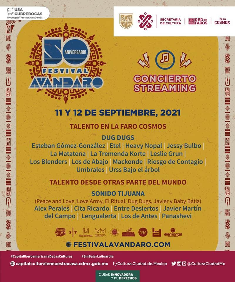 FESTIVAL AVANDARO 2021Conoce todas las actividades 11 y 12 septiembre, conoce los detalles del festival avandaro 2021