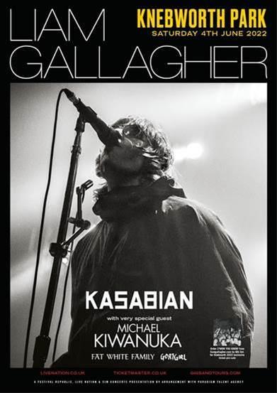 LIAM GALLAGHER Anuncia concierto y nuevo álbum C'MON YOU KNOW, LIAM GALLAGHER AT KNEBWORTH PARK