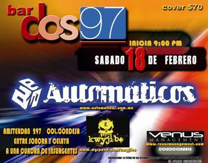 DOS97 Automáticos y Kwyjibo,  18 FEB