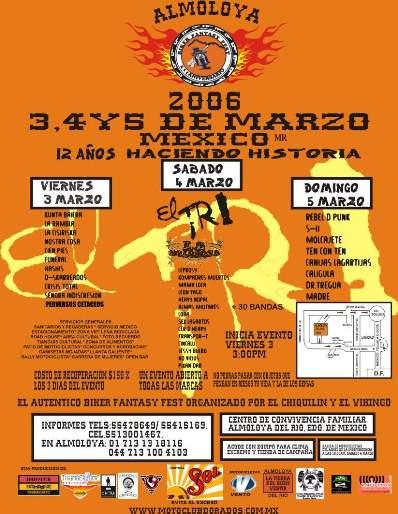 ALMOLOYA BIKER FEST3, 4, y 5 de Marzo 2006,
