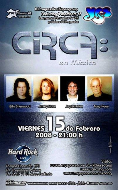 CIRCA En el Hard Rock Live