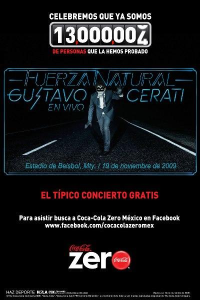 GUSTAVO CERATIEn el típico concierto gratuito de Coca Zero,