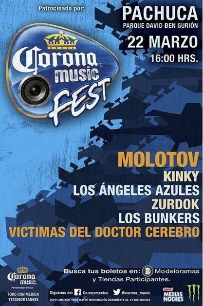 CORONA MUSIC FEST22 de Marzo - inicia la gira,