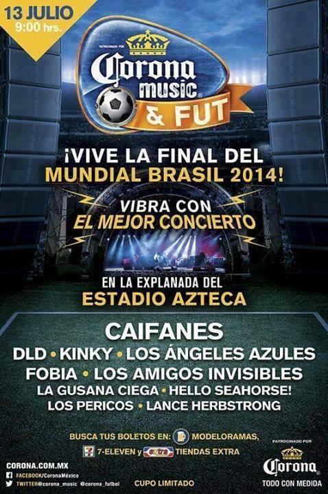 CORONA MUSIC FUTFiesta Rockera y Futbolera - 13 de Julio,