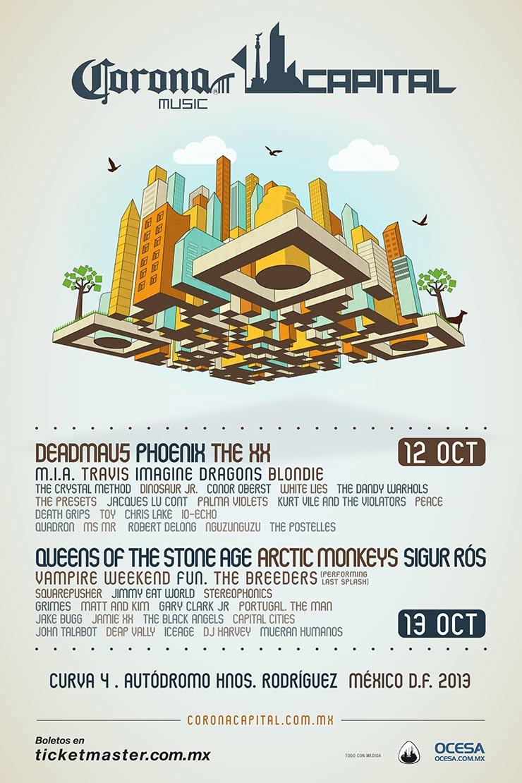 CORONA CAPITAL 201312 - 13 de Octubre Cartel,