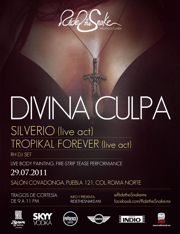 DIVINA CULPAFlyer / Teaser / Fiesta Sensual y Chabocha con Silverio y Tropikal Forever