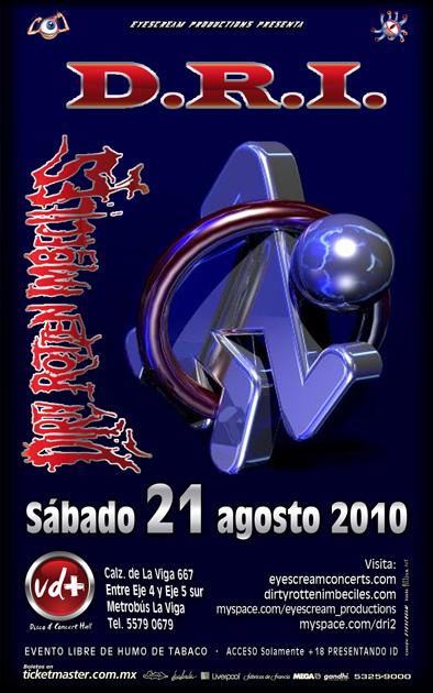 D.R.I. EN MÉXICO21 y 22 de Agosto