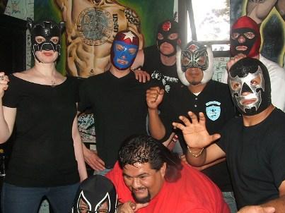 Tijuana Bibles,Sr. Bikini (Big Mascara),Siniestro Negro, T.J. y Ojo de Tigre.Conferencia de Prensa-Reseña,