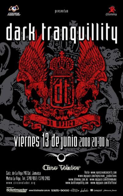 DARK TRANQUILITY En México ,