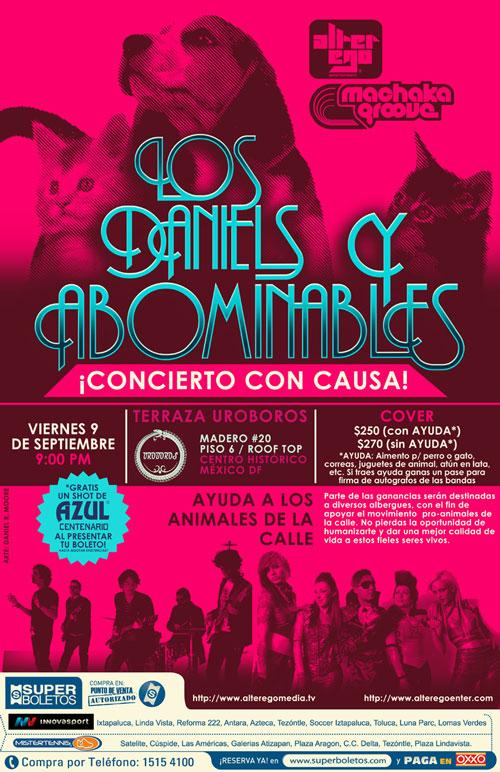 LOS DANIELS & LOS ABOMINABLESTerraza Uróboros - 9 Sept