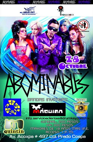 ABOMINABLES28-Oct, en Maximus Quintin, Coapa,