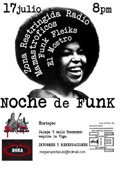 NOCHE DE FUNK17 JULIO - Bar la zona, tenemos cortesias,