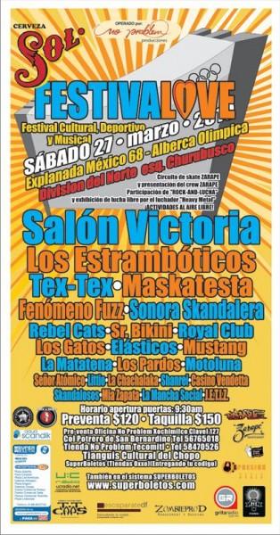 FESTIVALOVE27 de Marzo - Gimnasio Juan de la Barrera,