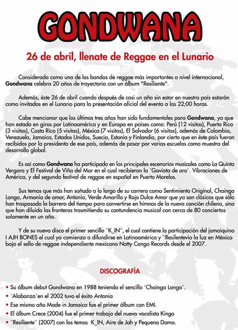 GONDWANA EN MEXICO26 ABRIL - LUNARIO AUDITORIO NACIONAL