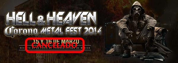 HELL & HEAVEN 2014Cancelado