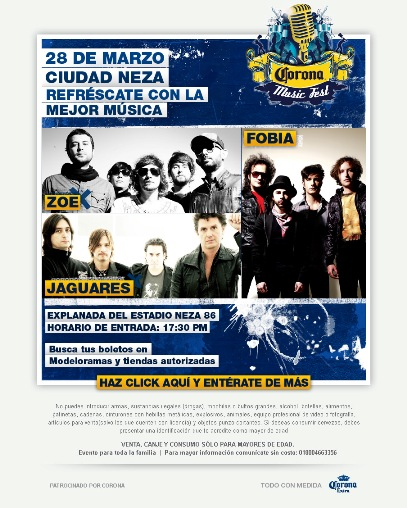 CORONA MUSIC FEST 09SE CANCELA EL CORONA FEST,