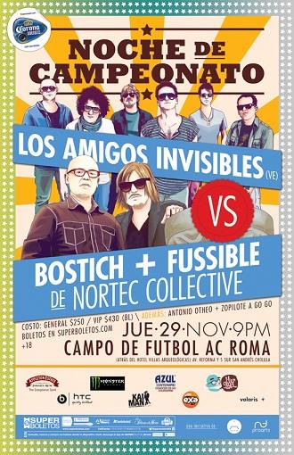 Los Amigos Invisibles + Nortec29 Nov en Puebla