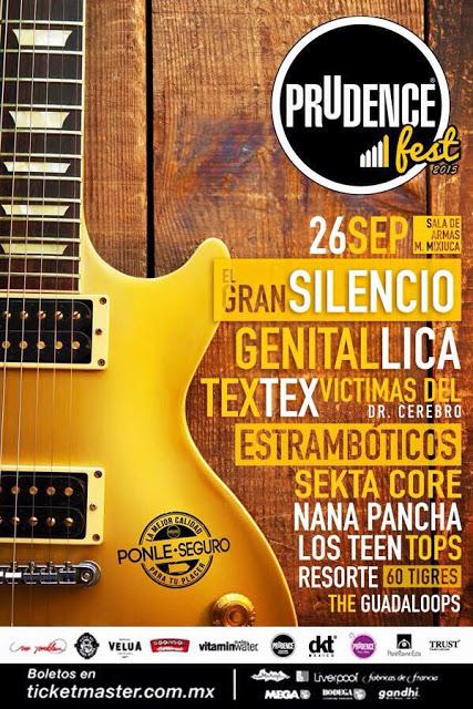 PRUDENCE FEST 2015Regresa en su 4ta edición con grandes bandas - 26 de Sept