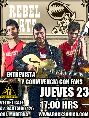 REBEL CATSConvivencia con Fans - Jueves 23 Abril,