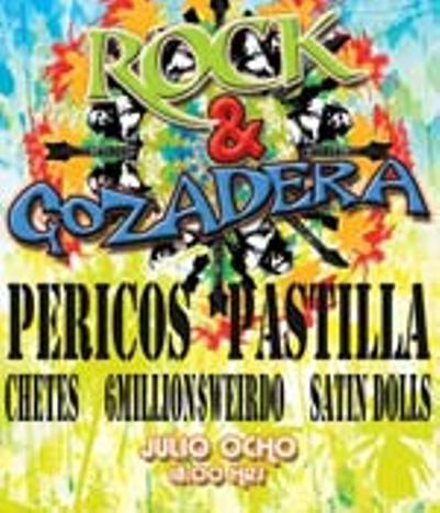 Rock y Gozadera Pericos, Pastilla y Chetes Salon 21, 8 Julio,