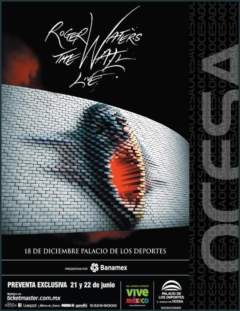 ROGER WATERSThe Wall Live / 18 de Diciembre / Palacio de los Deportes