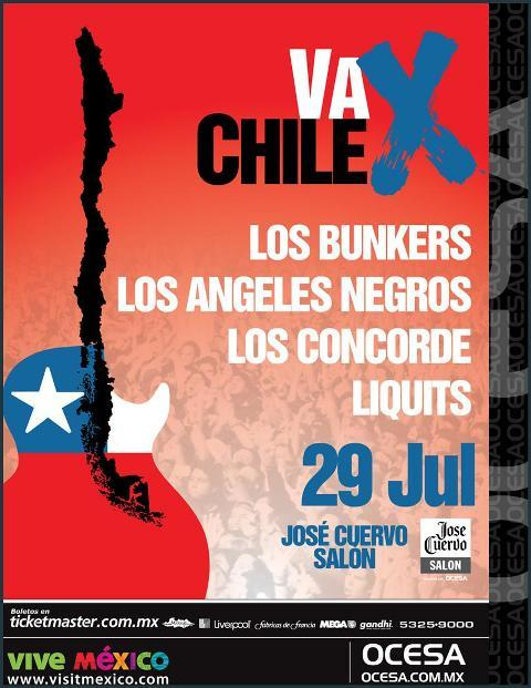 VA X CHILELos Bunkers, Los Angeles Negros, Los Concorde y Liquits,