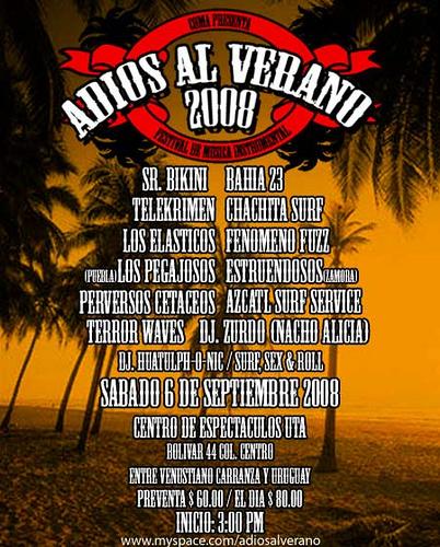 ADIOS AL VERANO 2008El mejor festival Surf del Año!  - 6 de Septiembre