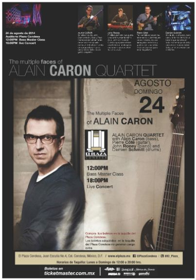 ALAIN CARON Presenta Multiple Faces en el Plaza Condesa - 24 de Agosto,