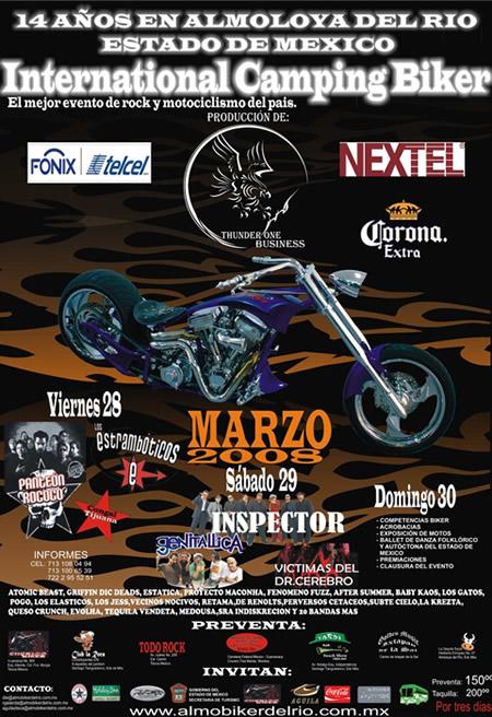 ALMOLOYA BIKER FEST 200828, 29, 30 de Marzo, evento de rock y moticlismo unico en México
