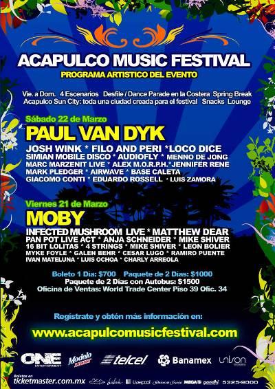 MOBY En el Acapulco Music Festival 2008