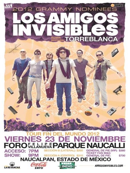 Los Amigos Invisibles y Torreblanca23  Nov. Parque Naucalli