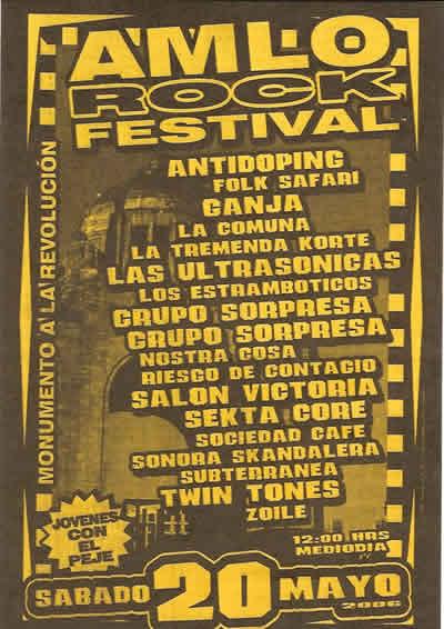 AMLO ROCK FESTIVAL20 - MAYO - MONUMENTO A LA REVOLUCION,