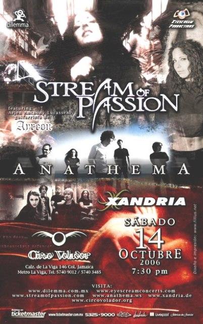STREAM OF PASION, ANATEMA Y XANDRIACirco Volador