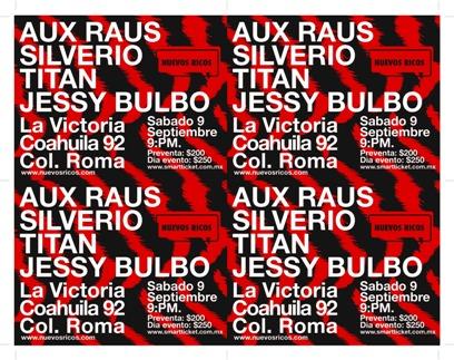 Aux Raus, Silverio,Titan y Jessy Bulbo La Victoria