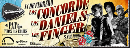 LOS CONCORDE, LOS DANIELS Y LOS FINGER14 Febrero - Pabellón Alta Tecnología
