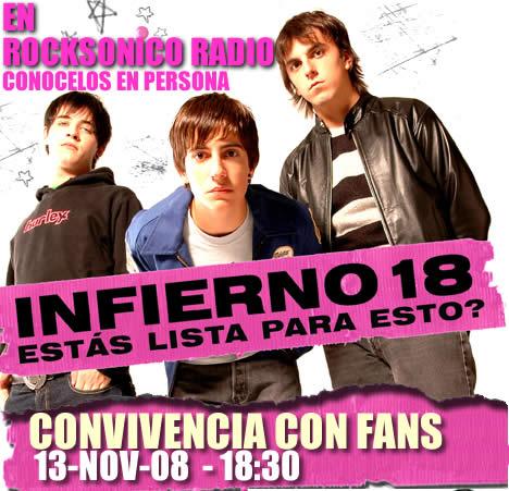 INFIERNO 18Convivencia con FANS - 13 NOV - Rocksonico Radio,