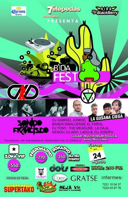BIDA Fest  Toluca 24 AgoDLD y La Gusana Ciega