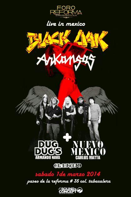 BLACK OAK ARKANSASen México - 1 de Marzo