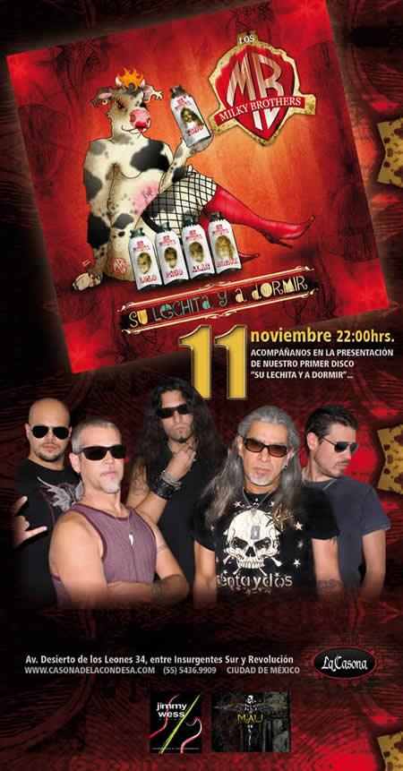 MILKY BROTHERSPresentación de disco - 11 Noviembre,