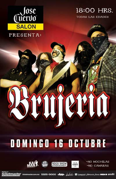 BRUJERIA16 Octubre - José Cuervo Salón