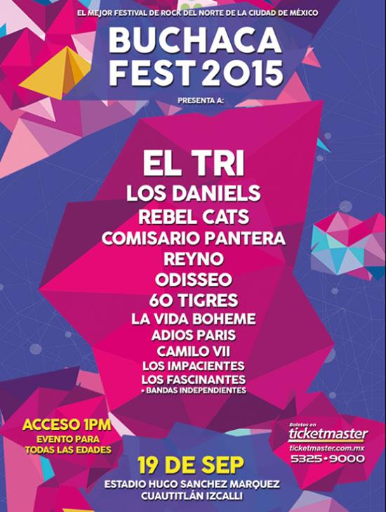 BUCHACA FESTEl Tri, Los Daniels, Rebel Cats y más, 19 septiembre