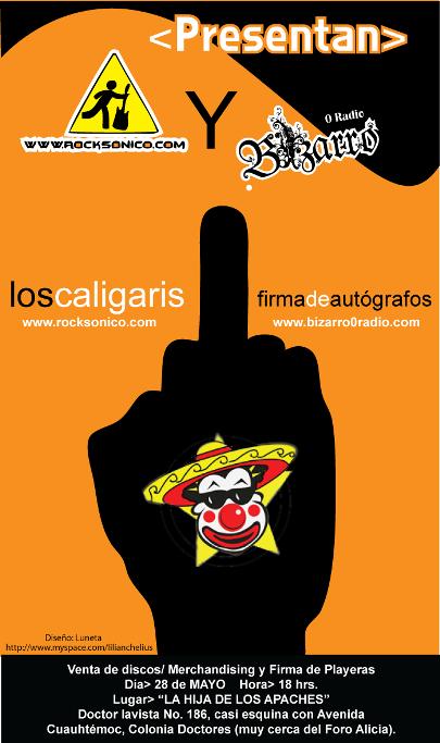LOS CALIGARIS Firma de autógrafos