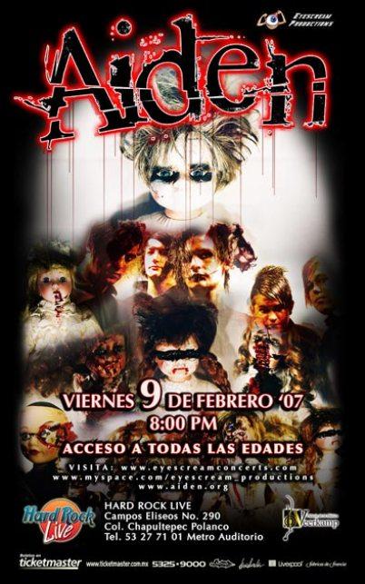 AIDEN CONCIERTO EN MEXICOHard Rock Live ,