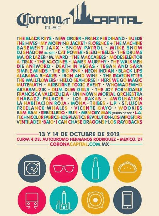 CORONA CAPITALCartel - 13 y 14 de Octubre,