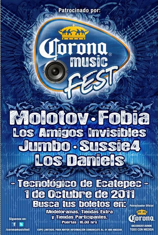 CORONA MUSIC FEST 2011Tecnológico de Ecatepec - 1 de Octubre,