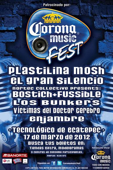 CORONA MUSIC FEST 201217 de Marzo - Tecnológico de Ecatepec,