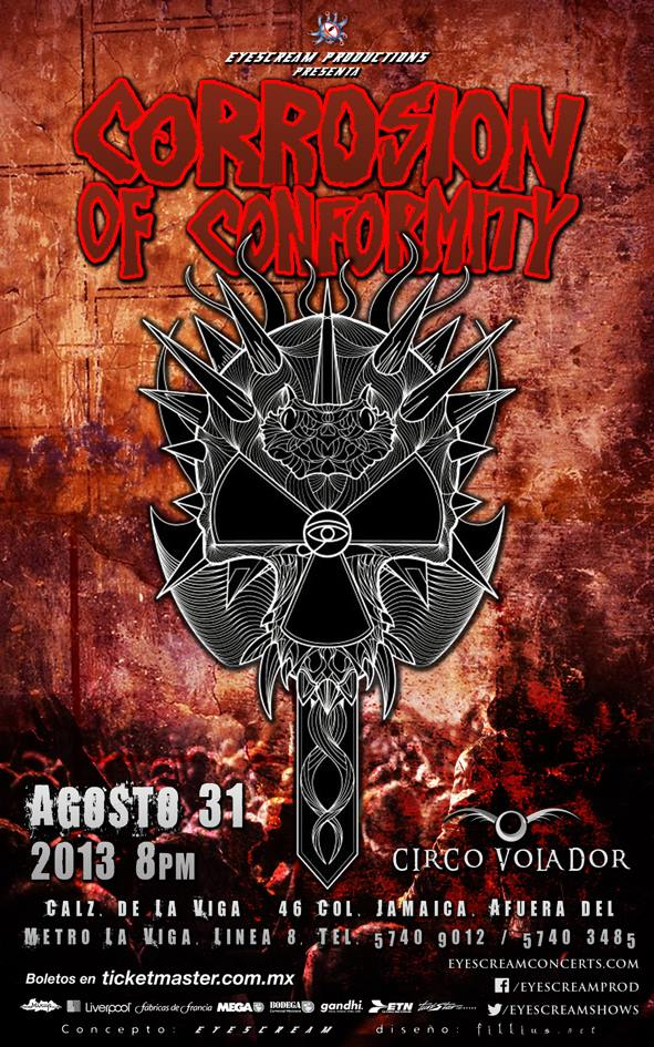 CORROSION OF CONFORMITY31 Agosto - Circo Volador,