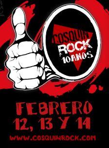 COSQUIN ROCKCartel y Horarios, 12 - 14 Febrero