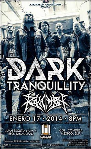 DARK TRANQUILITYDeath Metal en México - 17 Enero - Plaza Condesa,