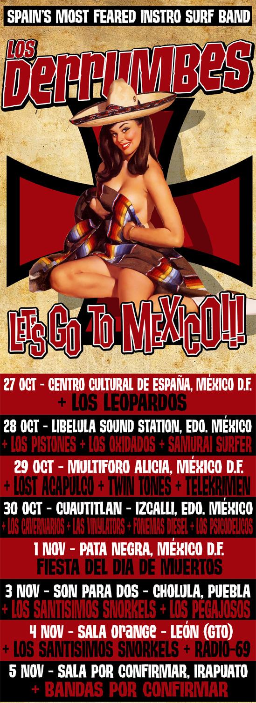 LOS DERRUMBES Gira por México - 27 Oct al 5 Nov